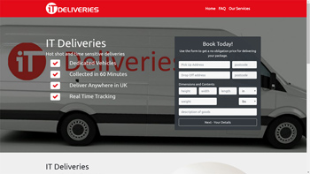 IT Deliveries web site designed by QD Design