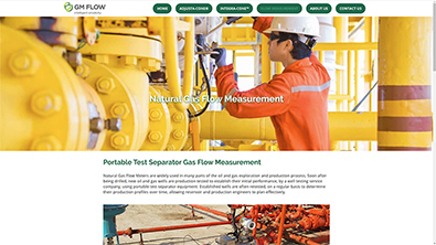 GM Flow Measurement web site designed by QD Design