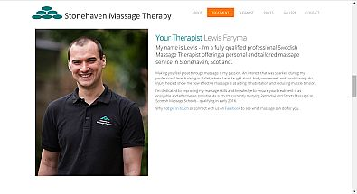 Stonehaven Massage Therapy web site designed by QD Design