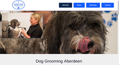 Vanity Fur Aberdeen website designed by QD Design