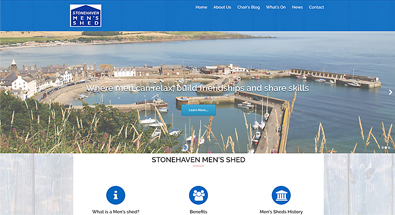 Stonehaven Mens Shed website design